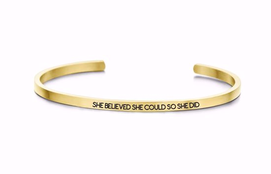 8km-b00041-key-moments-stål-guld-armring-she-believed-she-could-so-she-did