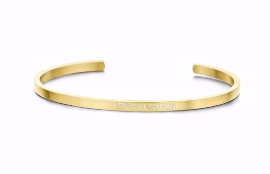 8km-b00454-key-moments-stål-guld-armring-love-is-all-you-need