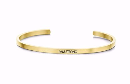 8km-b00038-key-moments-stål-guld-armring-i-am-strong