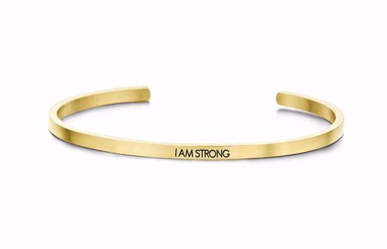 8km-b00038-key-moments-stål-guld-armring-i-am-strong