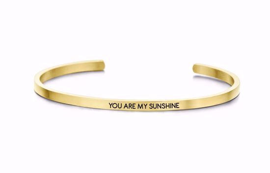 8km-b00047-key-moments-stål-guld-armring-you-are-my-sunshine