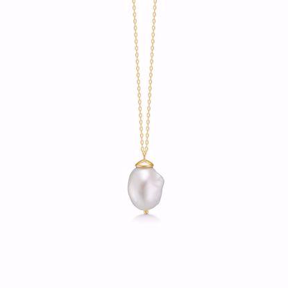 sølv-forgyldt-vedhæng-halskæde-med-barok-perle-30085