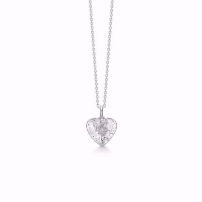 sølv-hjerte-halskæde-vedhæng-hammret-med-zirkonia-30086