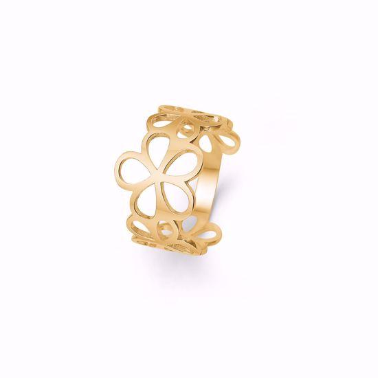 6378/14-guld-ring-14-karat-med-udskåret-blomster