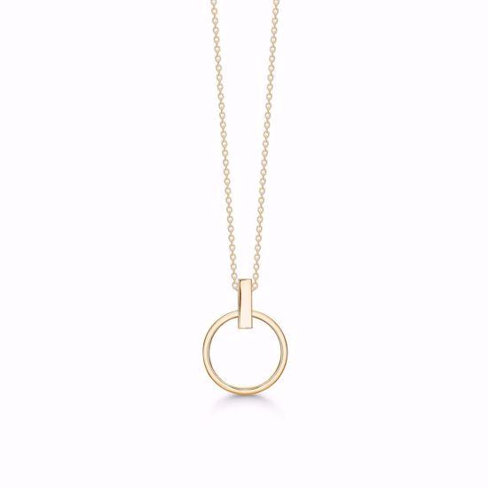 guld-cirkel-vedhæng-halskæde-uden-sten-8332/7/08