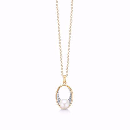 guld-vedhæng-halskæde-med-zirkonia-sten-ferskvands-perle-8325/7/08