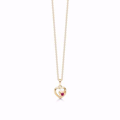 guld-dobbelt-hjerte-vedhæng-halskæde-med-rød-rubin-8328/7/08