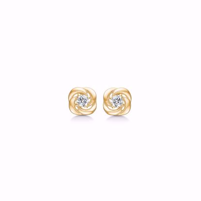 guld-ørestik-øreringe-blomst-med-zirkonia-sten-5573/08