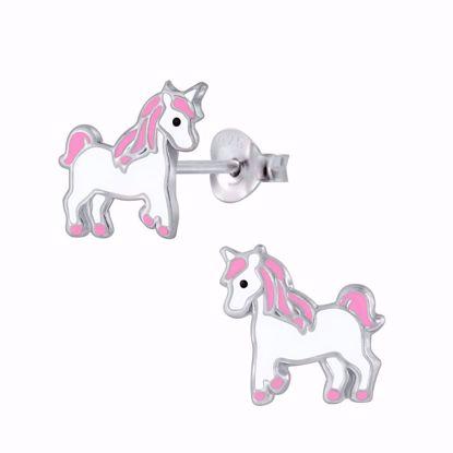 sølv-børne-ørestikker-øreringe-enhjørning-unicorn-11315