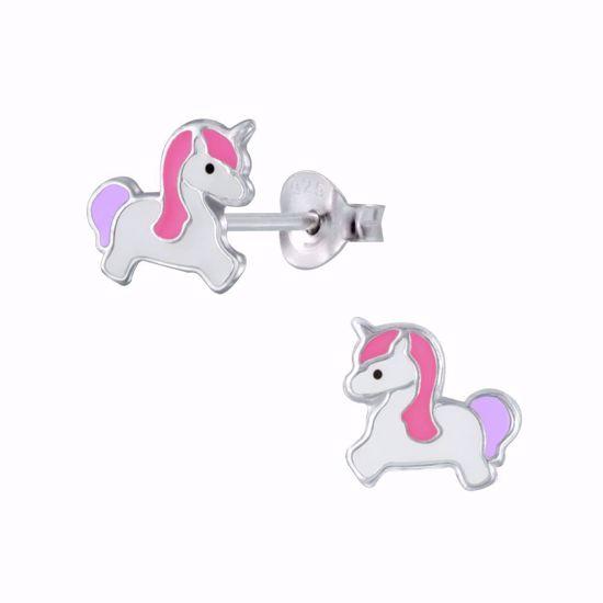 sølv-børne-ørestikker-øreringe-enhjørning-unicorn-11314
