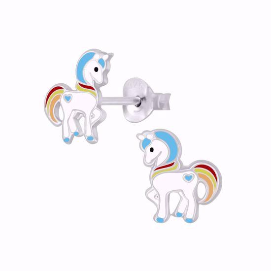 sølv-børne-ørestikker-øreringe-enhjørning-unicorn-11313