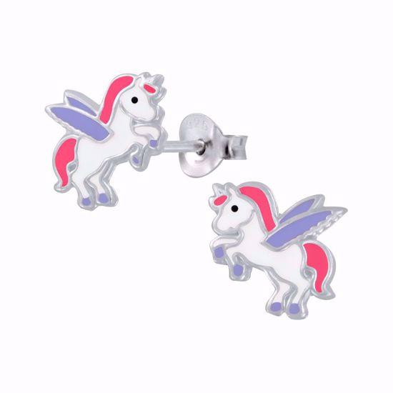 sølv-børne-ørestikker-øreringe-enhjørning-unicorn-11311