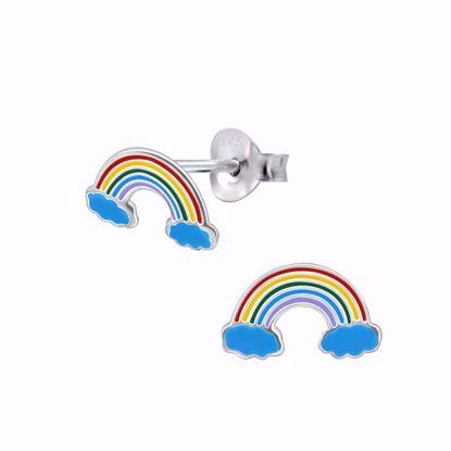sølv-børne-ørestik-ørering-regnbue-11301