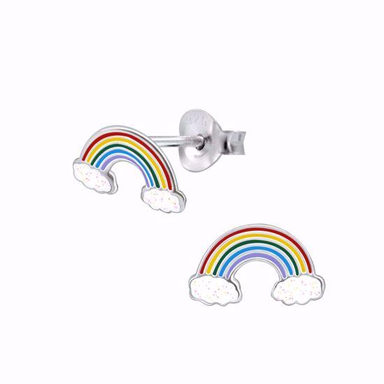 sølv-børne-ørestik-ørering-regnbue-11302
