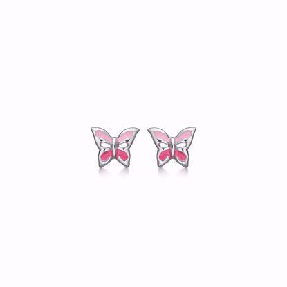 sølv-børne-ørestikker-øreringe-sommerfugl-med-farve-1899/1
