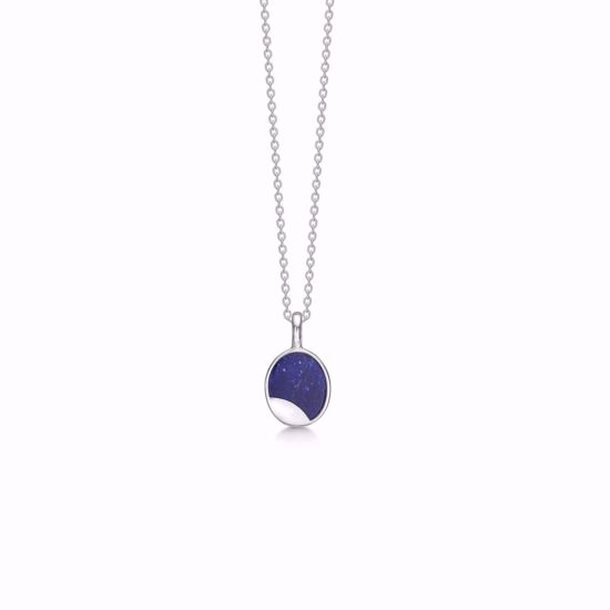 sølv-retro-vedhæng-halskæde-med-blå-lapis-1929/3