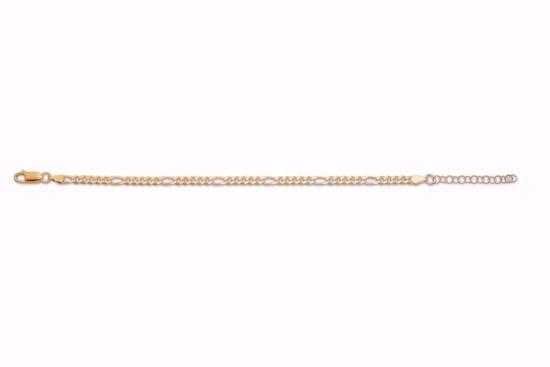 forgyldt-guld-smalt-figaro-armbånd-8949/F
