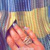 Guld & Sølv Design Sølv forgyldt ring - 1944/2 - bred ring