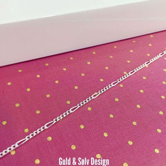 Sølv figaro ankelkæde 27cm - 8928 - Guld og sølv design
