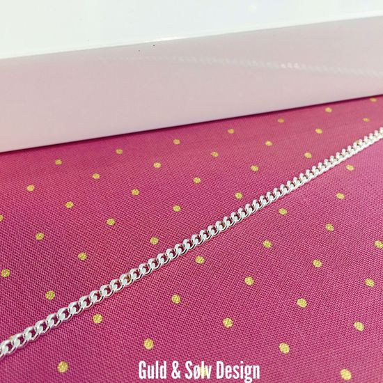 Sølv Panser ankelkæde 27cm - 8931 - guld & Sølv Design