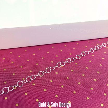 Sølv ankelkæde 27cm - 8943