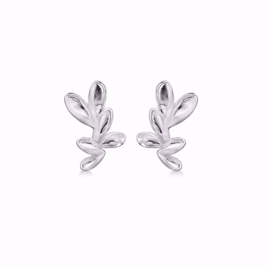 Sølv ørestikkere blomster