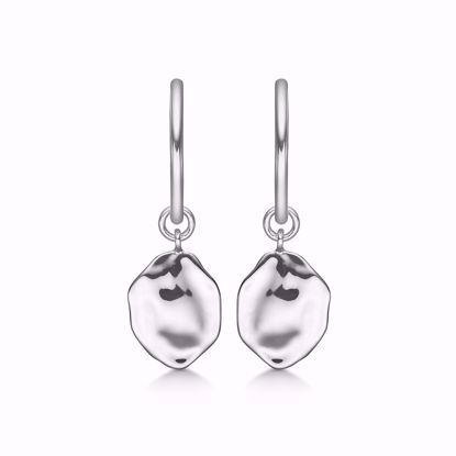 Creoler Øreringe i sølv med plade 11326
