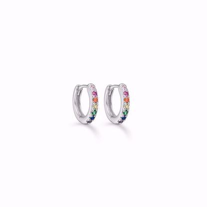 seville-sølv-øreringe-med-multi-farvede-zirkonia-11334