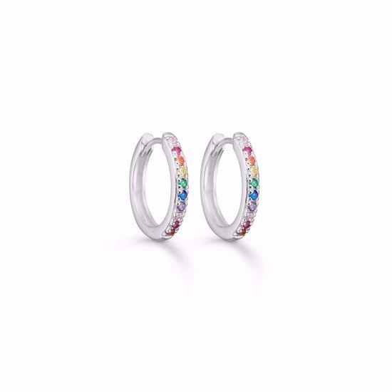seville-sølv-øreringe-med-multi-farvede-zirkonia-11336