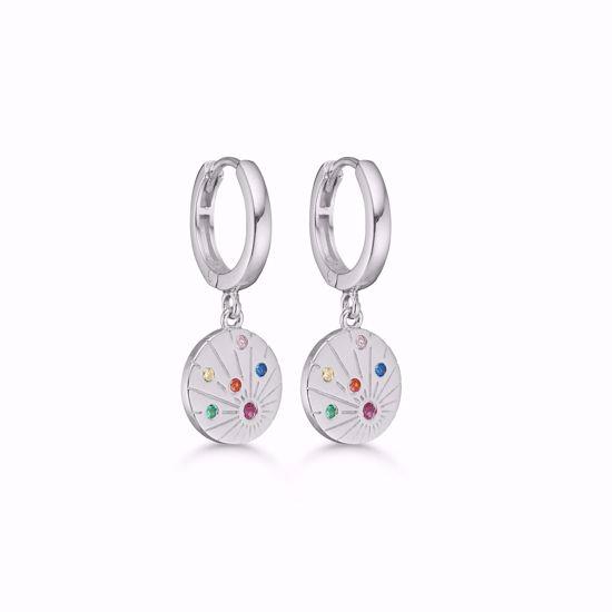 seville-sølv--øreringe-med-multi-farvede-zirkonia-11331