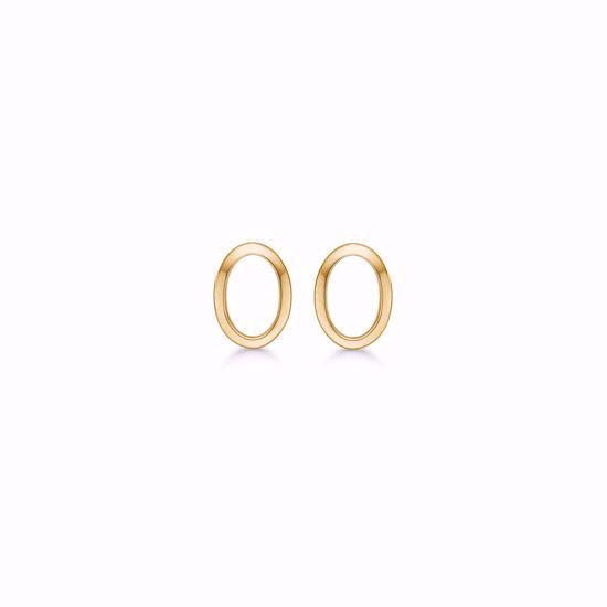 oval-guld-ørestik-øreringe-8kt-5577