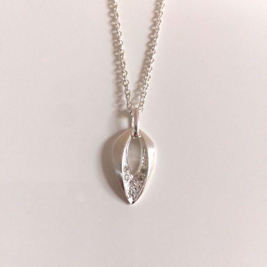 Billede af OUTLET Halskæde i sølv med vedhæng 1185/3