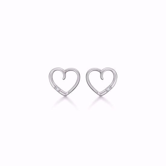 hvidguld-hjerte-øreringe-med-diamanter-8350/5/14hv