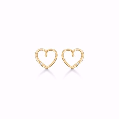 guld-hjerte-øreringe-ørestikker-med-diamant-brillant-8350/5/14