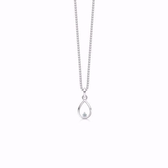 sølv-dråbe-vedhæng-halskæde-med-zirkonia-1956/3