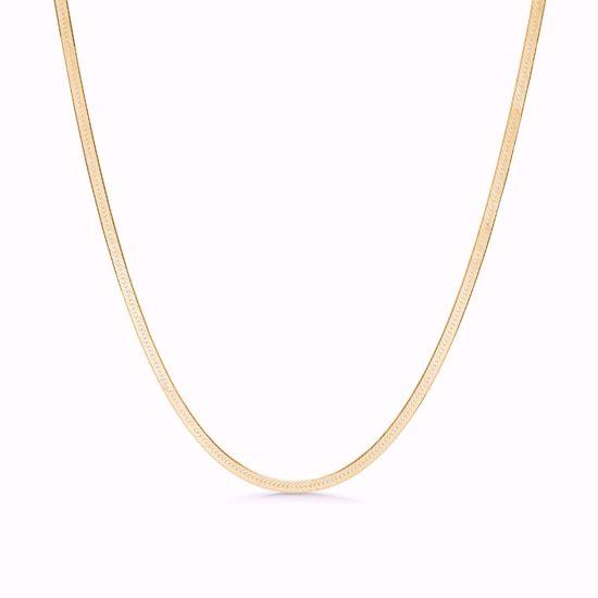 seville-sølv-forgyldt-flad-slange-halskæde-8955/42/f
