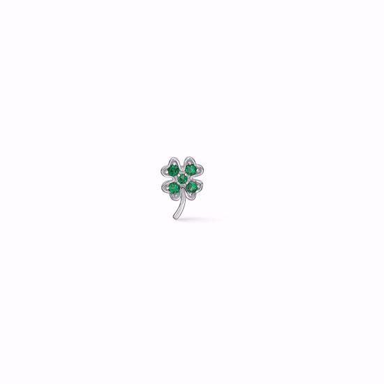 seville-sølv-ørestik-firkløver-med-grøn-zirkonia-sten-11369