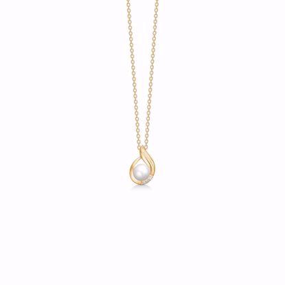 guld-vedhæng-halskæde-med-perle-og-diamanter-8360/7/08
