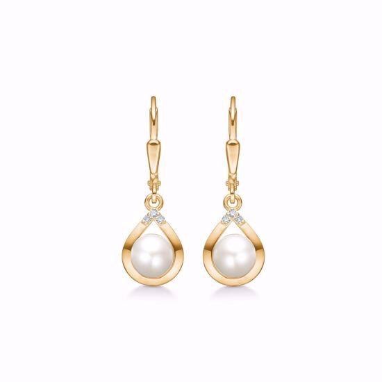 guld-ørehænger-med-diamanter-og-ferskvands-perle-8361/5/08