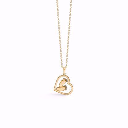 guld-hjerte-halskæde-med-fødder-7433/08