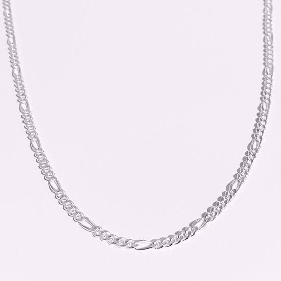 Figaro kæde sølv 42+5 cm sølv 8949/42 Seville jewelry
