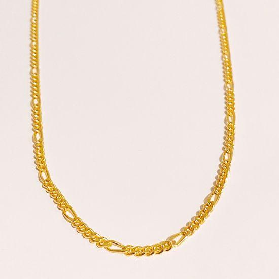 Figaro kæde forgyldt sølv 42 cm + 5 cm 8949/42/F Seville Jewelry