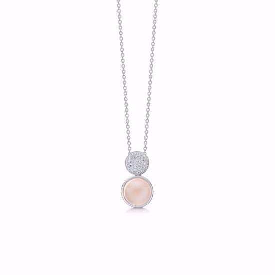 sølv-halskæde-med-pink-calcedon-og-zirkonia-1960/3