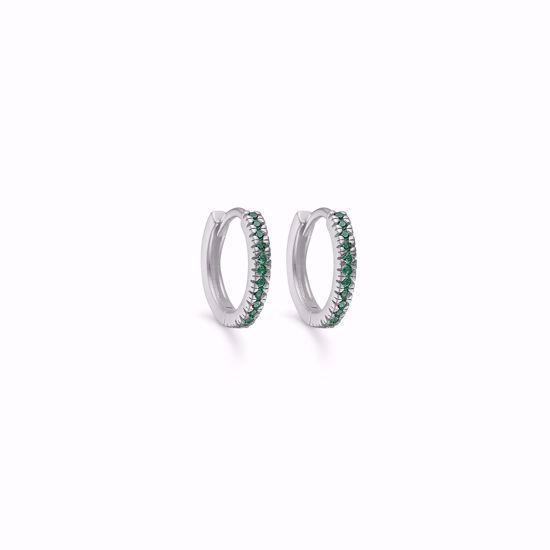 sølv-hoops-øreringe-med-grønne-sten-11386