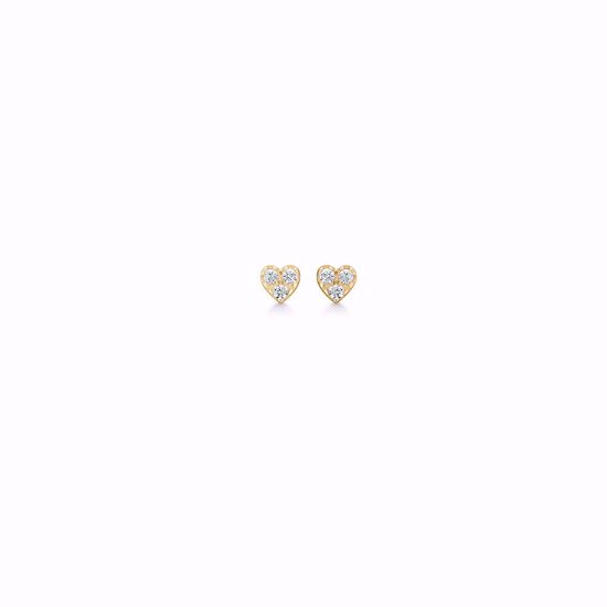 seville-forgyldt-hjerte-ørestikker-11390/f