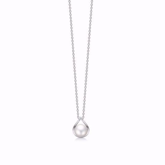 hvidguld-halskæde-med-perle-og-diamanter-8381/7/08