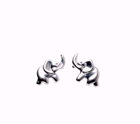 Billede af Sølv børne ørestik elefant - 1428